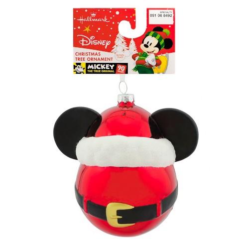 hallmark mickey mouse disney glass ball christmas ornament target - Mickey Mouse Christmas Tree Ornaments