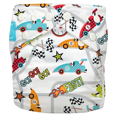 Charlie Banana All-in-One Reusable Diaper 1 pack, One Size - Racecar