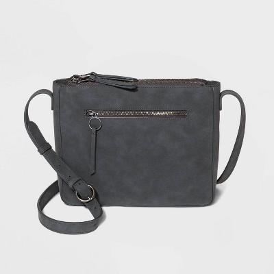 Triple Compartment Snap Closure Crossbody Bag - Universal Thread™ Gunmetal