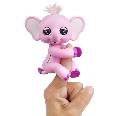 Fingerlings Baby Elephant - Nina (Pink) - Interactive Toy - By WowWee