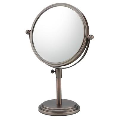 Classic Adjustable Free Standing Magnified Makeup Mirror - Bronze - Mirror Image
