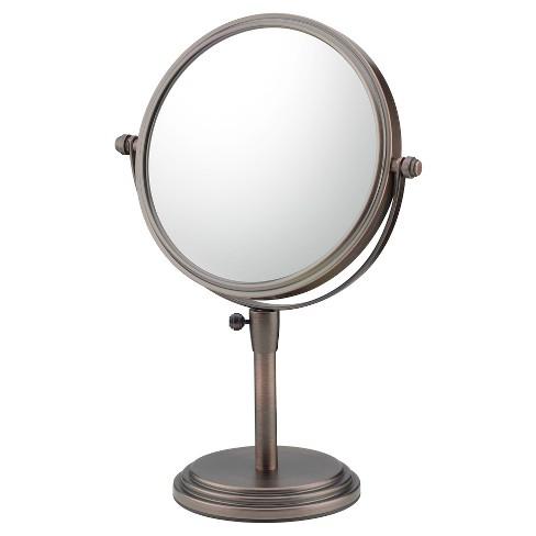 Classic Magnified Makeup Mirror Adjustable Free Standing - Mirror Image - image 1 of 1