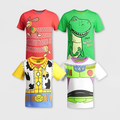 Toddler Boys' 4pk Toy Story Short Sleeve Graphic T-Shirt
