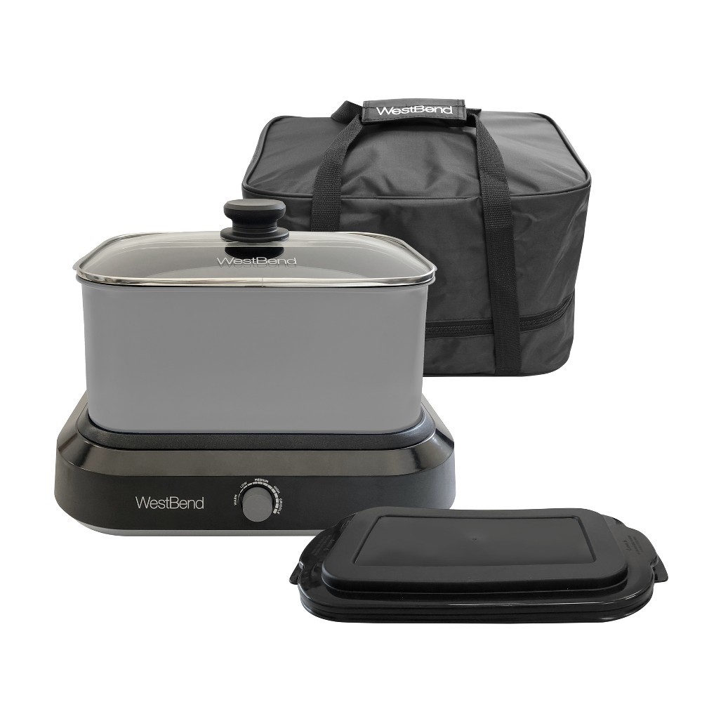 West Bend 6qt Versa Cooker with Bag - Silver