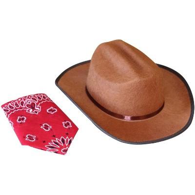 Aeromax Aeromax Junior Cowboy Costume Hat with Bandanna
