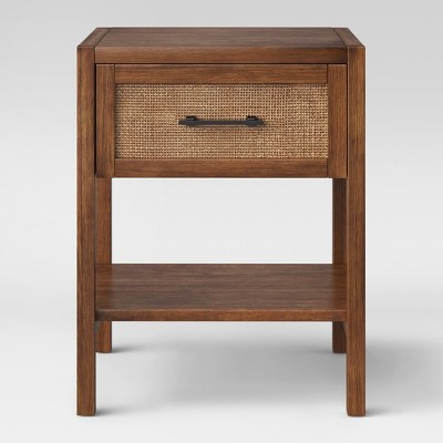 Warwick Wood & Rattan Accent Table - Threshold™
