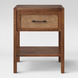 Warwick Wood & Rattan Side Table - Threshold™