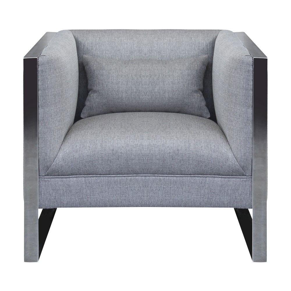 Armen Living Royce Contemporary Chair Gray