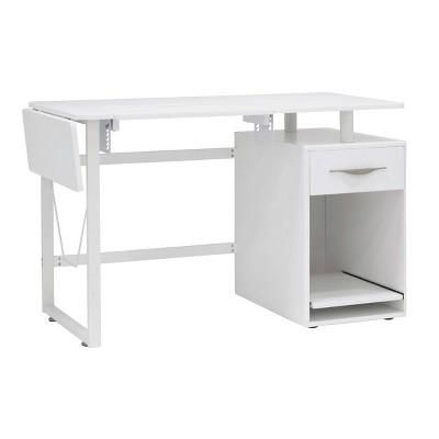 Pro-Line Sewing Table with Side Panel White - Sew Ready