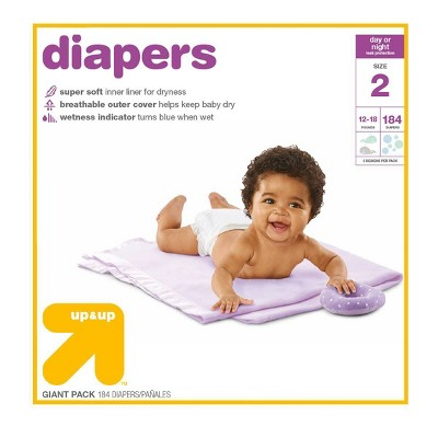 Diapers Giant Pack Size 2 - 184ct - Up&Up™
