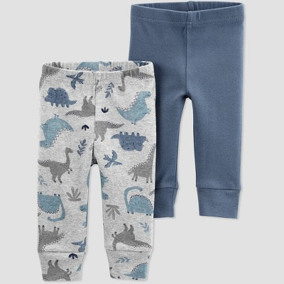 Baby Boys' 2pk Dino Pull-On Pants - Just One You® made by carter's Gray/Blue 3M