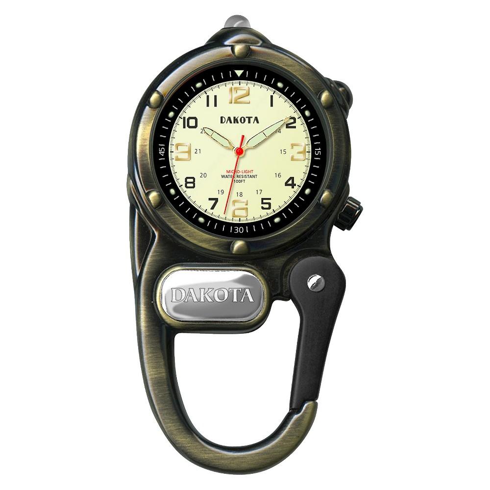Image of Men's Dakota Mini Clip Microlight Watch - Antique Gold, Size: Small