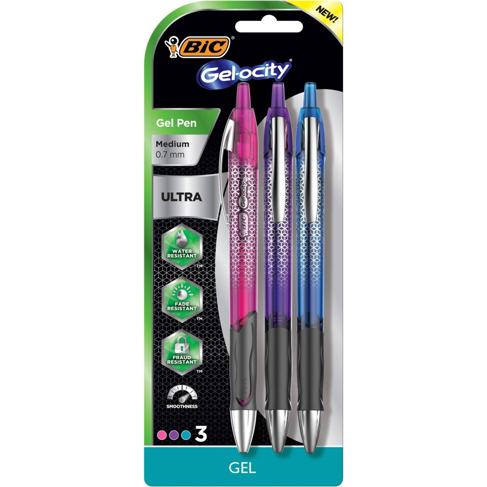 Image of 3pk Gel-ocity Ultra Gel Pens - BIC