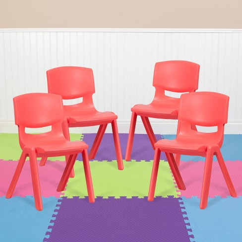 Flash Furniture 4 Pack Red Plastic, Who Makes Flash Furniture