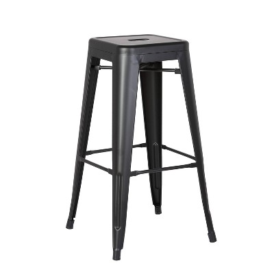 """Set of 2 30"""" Industrial Backless Metal Barstools - AC Pacific"""