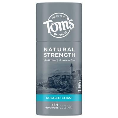 Tom's of Maine Men's Plastic-Free Natural Strength Deodorant Rugged Coast - 2oz