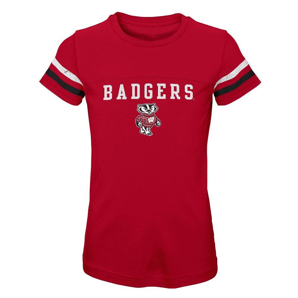 Ncaa Wisconsin Badgers Girls 39 Short Sleeve Scoop Neck T Shirt M