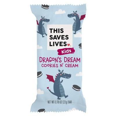 This Saves Lives Dragon's Dream Cookies N' Creme Krispy Treat Bar - 22g