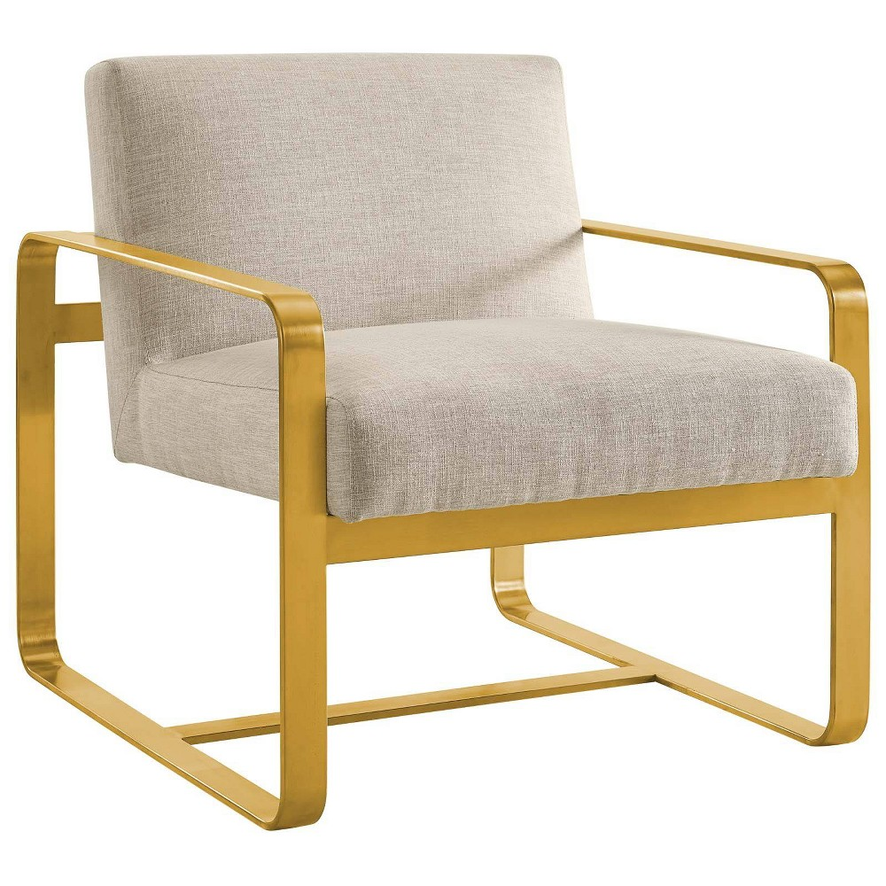 Astute Upholstered Fabric Armchair Beige - Modway