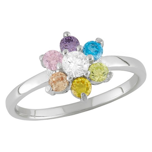 Tiara Kid's 1/3 CT. T.W. Round-Cut Cubic Zirconia Prong Set Ring in Sterling Silver - image 1 of 2