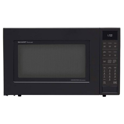Sharp SMC1585BB Carousel 1.5 Cubic Foot 900W Kitchen Countertop Convection Microwave Oven, Black (Certified Refurbished)