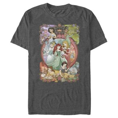Men's Disney Princesses Vintage Collage T-Shirt