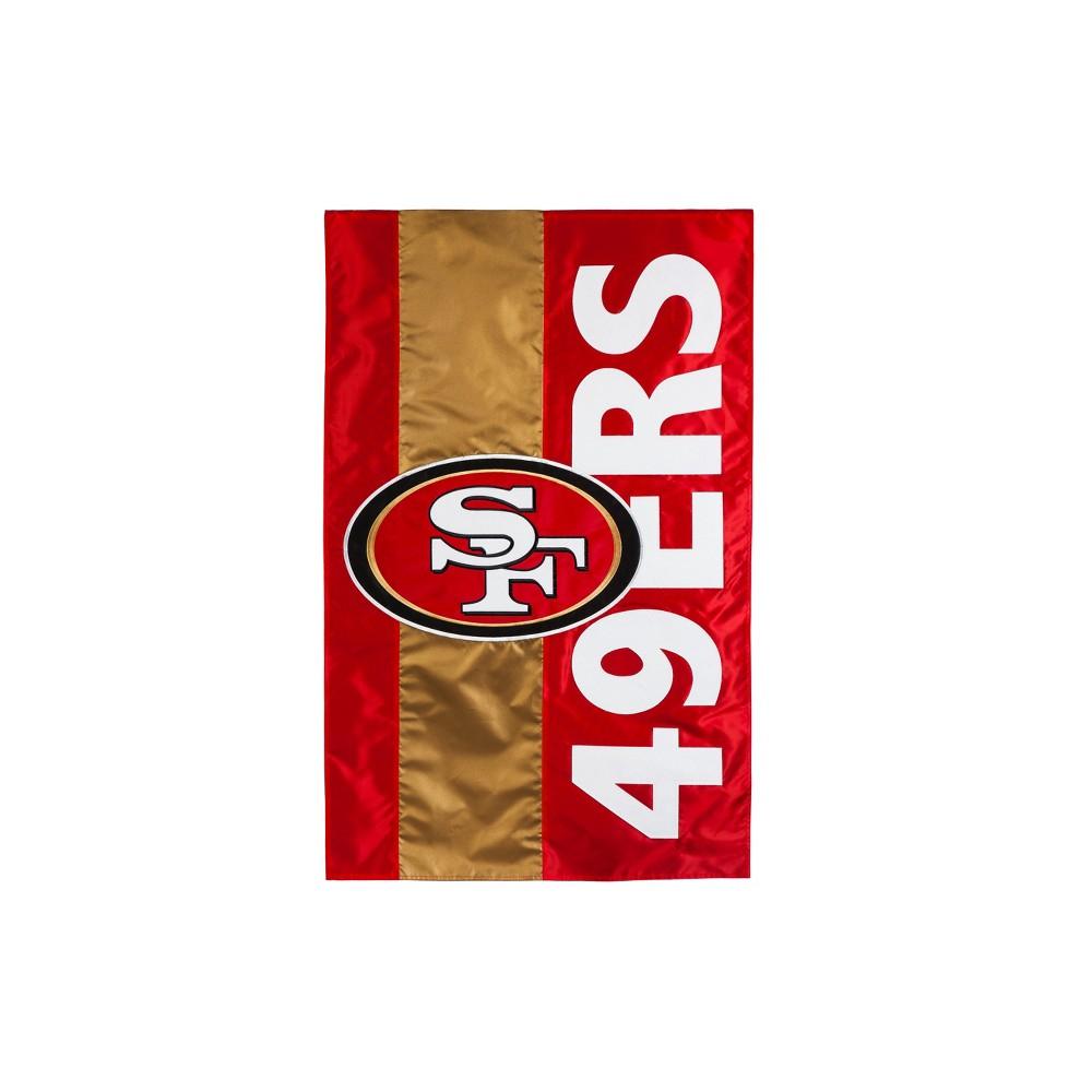 San Francisco 49ers Embellished House Flag