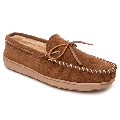 Minnetonka Men's Suede Everyday Trapper Moccasin Slippers