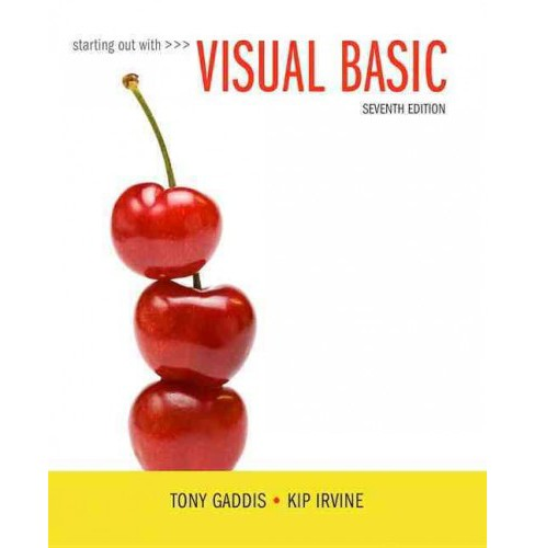 Starting Out With Visual Basic (Student) (Paperback) (Tony Gaddis & Kip Irvine) - image 1 of 1