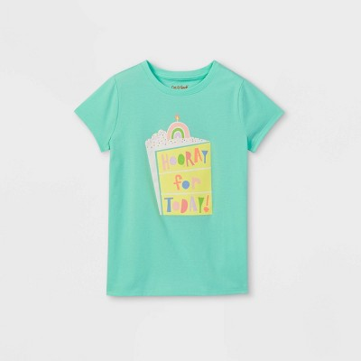 Girls' 'Hooray For Today' Graphic Short Sleeve T-Shirt - Cat & Jack™ Mint