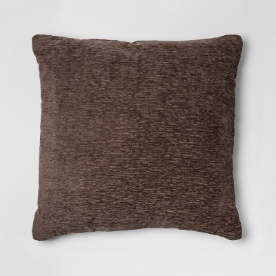 Oversize Chenille Square Throw Pillow Brown - Threshold™