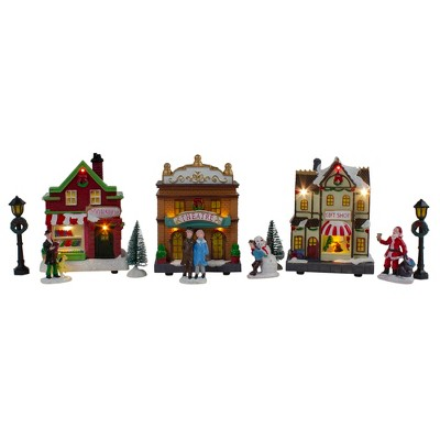 Northlight 11-Piece LED Lighted Christmas Village Table Top Decorationbig