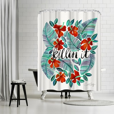 """Americanflat Killinit Red by Cat Coquillette 71"""" x 74"""" Shower Curtain"""