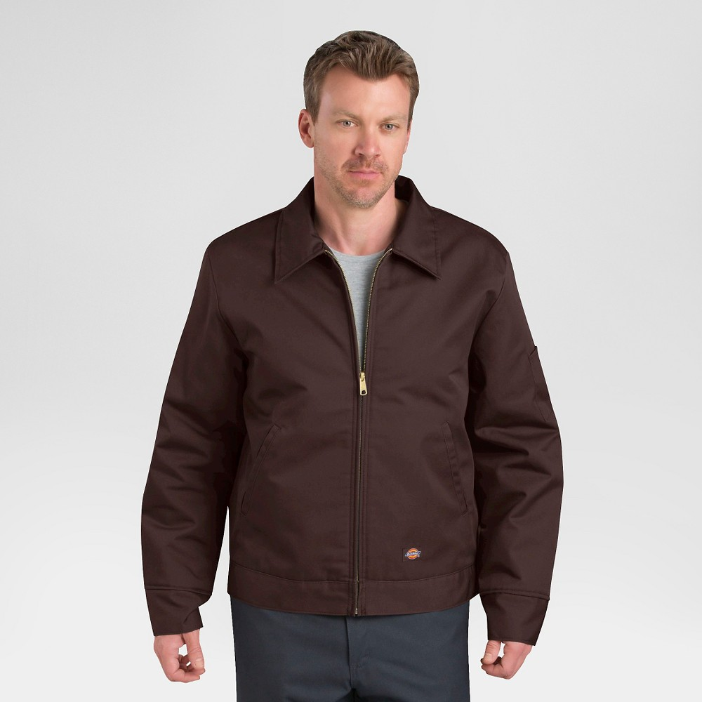 Dickies Men's Twill Insulated Eisenhower Jacket- Brown S