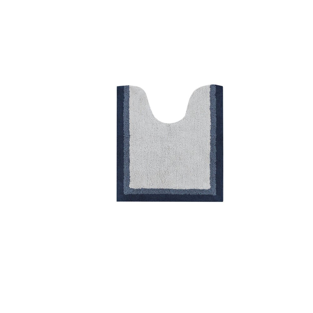 "Image of ""20""""x24"""" Salem Cotton Tufted Bath Rug Navy"""