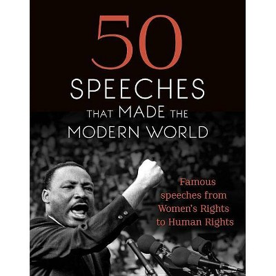 50 Speeches That Made the Modern World - (Hardcover)