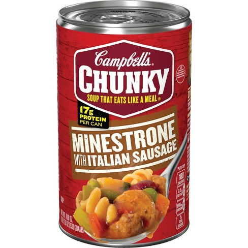 Campbell's Chunky Soup Sausage Minestrone - 18.8oz - image 1 of 4