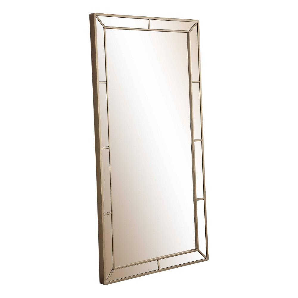 74 Claudine Floor Mirror Champagne Gold - Abbyson Living