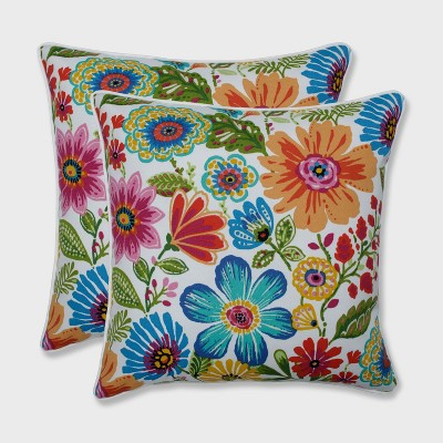 2pk 18.5  Gregoire Outdoor Throw Pillow Prima Blue - Pillow Perfect