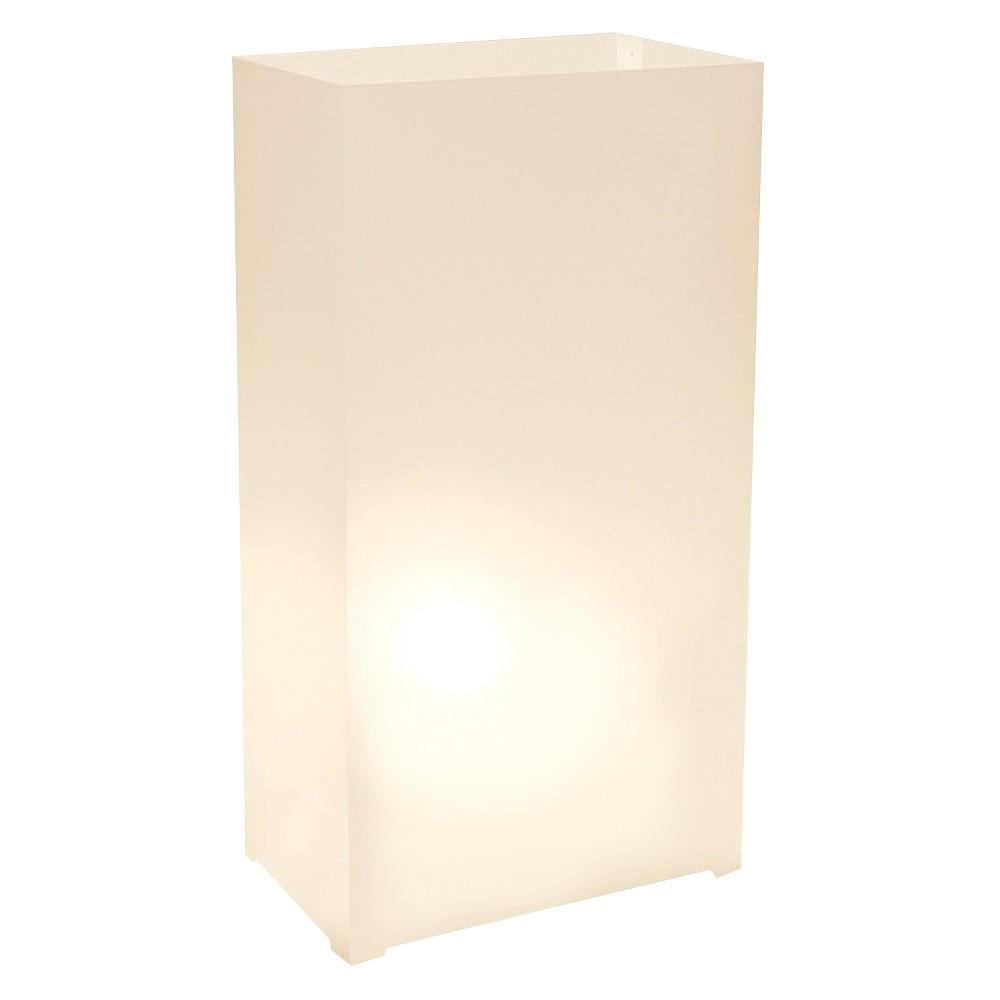 Image of 10ct Plastic Luminaria Lanterns White