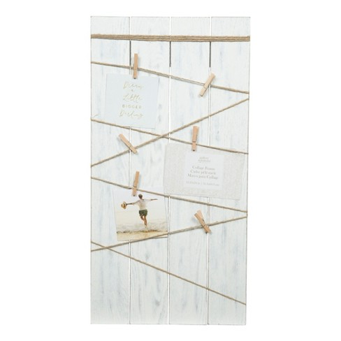 Multiple Image 12X24 Whitewash Plank Clips Collage Frame - Gallery ...