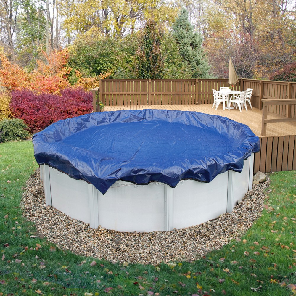 ArcticPlex Above Ground 18' x 30' Oval 15-Year Winter Cover - Royal Blue