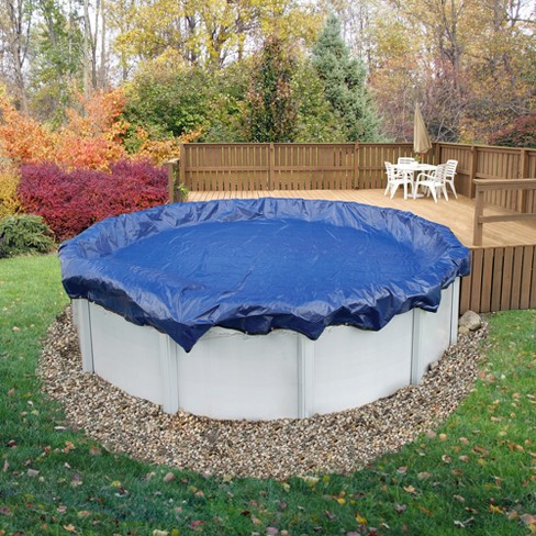 ArcticPlex Above Ground 18\' x 34\' Oval 15-Year Winter Cover - Royal Blue