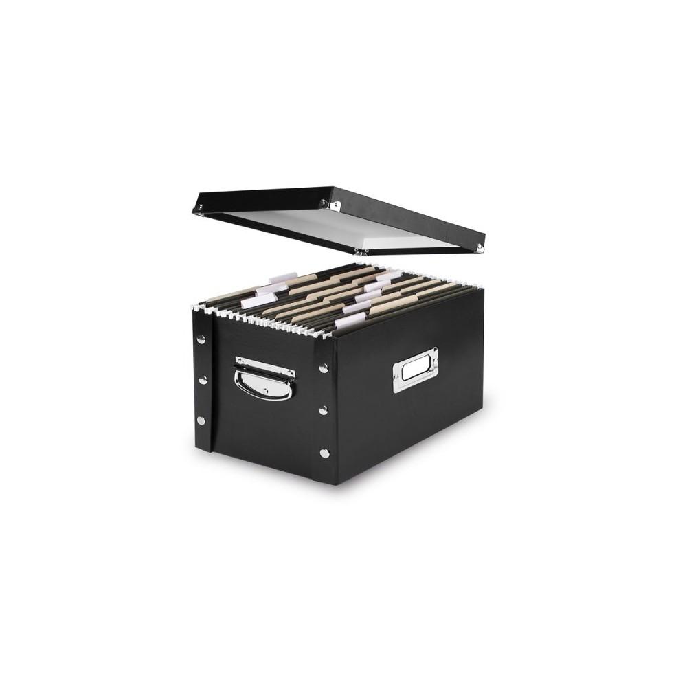 Black Letter/Legal Size File Box – 2 Pack