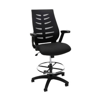 Mid-Back Mesh Drafting Stool with Lumbar Support - OFM