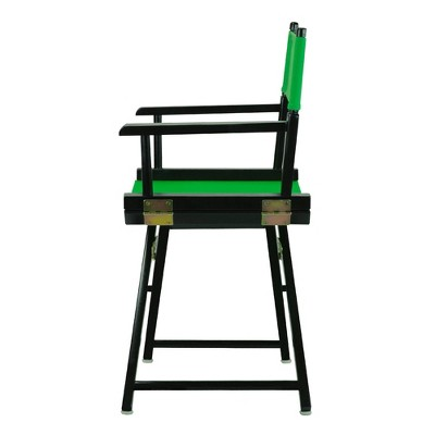 Director's Chair with Black Frame and Green Canvas