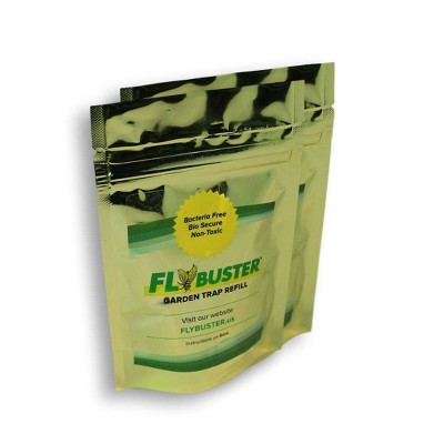 FlyBuster 2pk Outdoor Non-Toxic Fly Control Trap System Refill