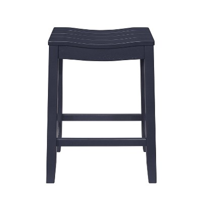 Fiddler Backless Wood Counter Height Barstool Navy - Hillsdale Furniture
