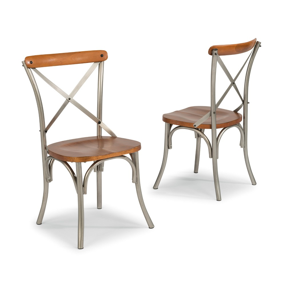 Orleans Dining Chairs Caramel Set of 2 - Home Styles, Brown