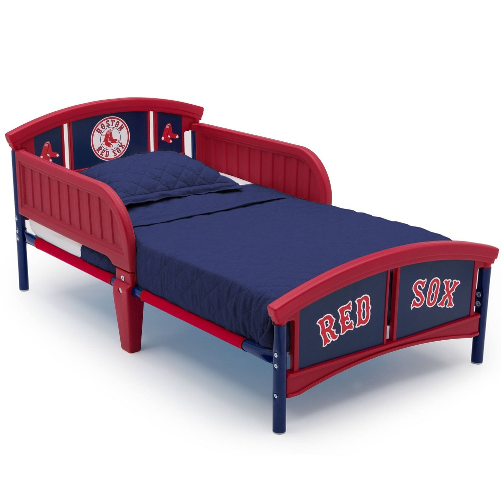 Image of Toddler Boston Sox MLB Plastic Bed Red - Delta Children